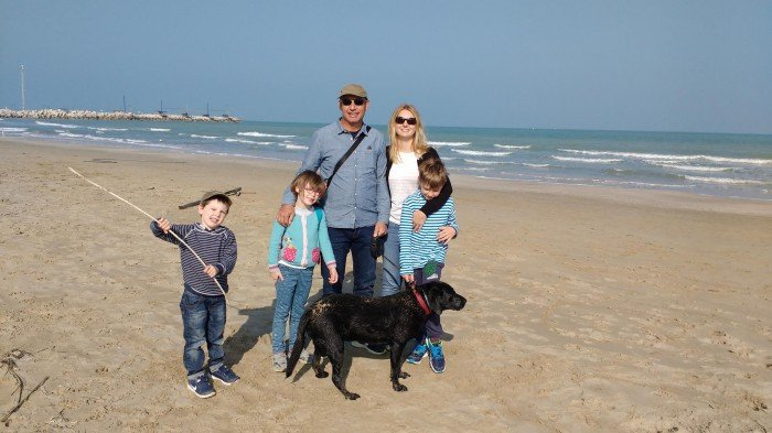 Paul, Isabel and Benjamin 8, Lucy 6, William 4 and Ollie Dog