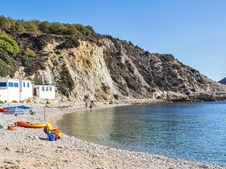 La playa Cala Portixolo la Barraca