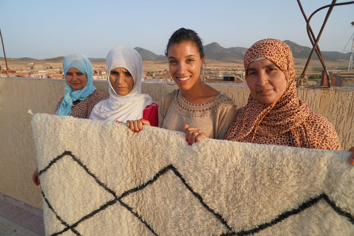 Nasia Burnet, helping to preserve traditional rug making with Sukhi Rugs