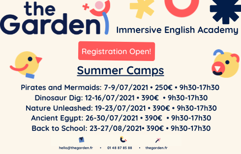 Summer camps in english in Paris